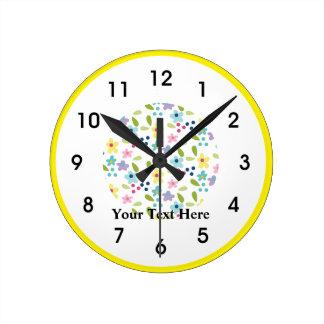Horloge Ronde Petites fleurs géniales