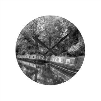 Horloge Ronde Peu de bateaux étroits de Venise