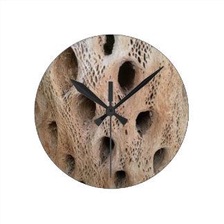 Horloge Ronde Photo de squelette de Cholla