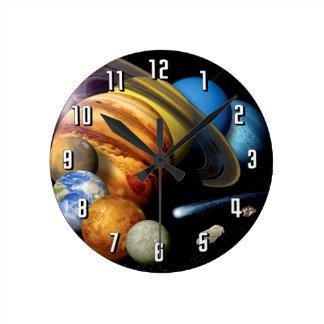 Horloge Ronde Photos de l'espace de montage de planètes de
