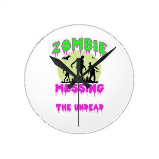 Horloge Ronde Pièce en t de Halloween de zombi