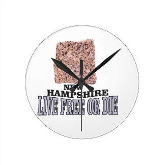 Horloge Ronde Pierre du New Hampshire