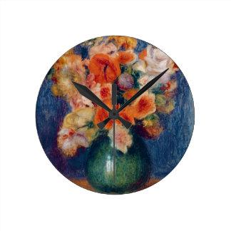 Horloge Ronde Pierre un bouquet de Renoir  