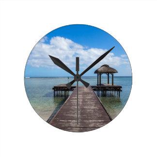 Horloge Ronde Pilier dans le flac flic îles Maurice d'en d'océan