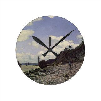 Horloge Ronde Plage de Claude Monet | chez Honfleur, 1864