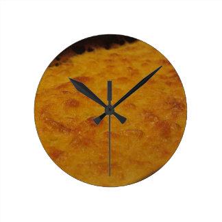 Horloge Ronde Plan rapproché de la crêpe de farine de pois
