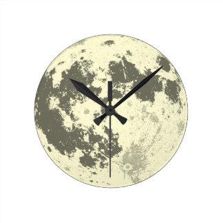 Horloge Ronde Pleine lune Supermoon lumineux