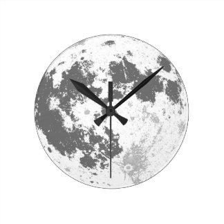 Horloge Ronde Pleine lune Supermoon lumineux de lune