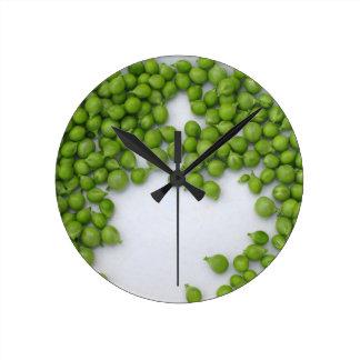 Horloge Ronde Pois mûrs d'un plat