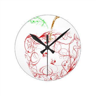 Horloge Ronde pomme