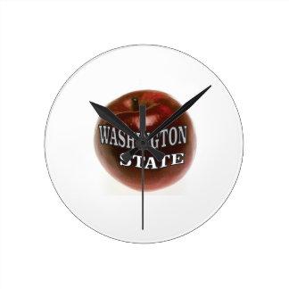 Horloge Ronde Pomme de rouge de l'état de Washington