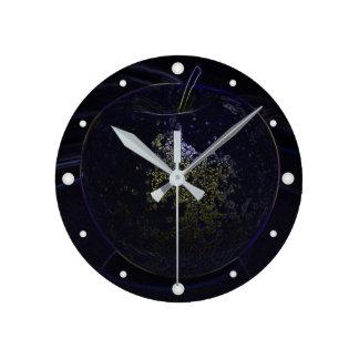 Horloge Ronde pomme d'or
