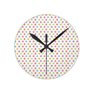 Horloge Ronde Pommes colorées
