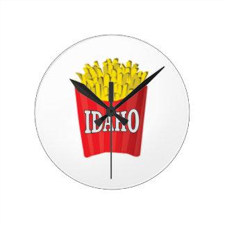 Horloge Ronde pommes frites de l'Idaho
