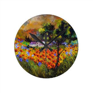 Horloge Ronde poppies887101.JPG