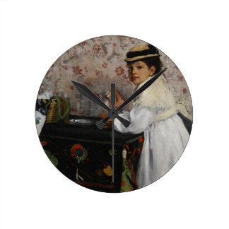 Horloge Ronde Portrait d'Edgar Degas | de Mlle. Hortense