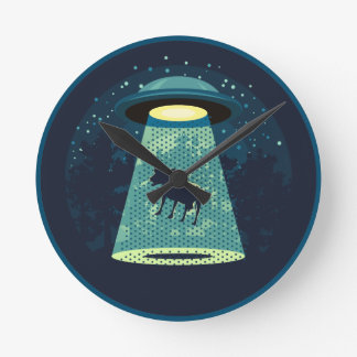 Horloge Ronde Prenez garde de l'UFO