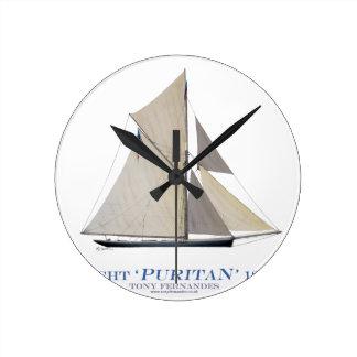 Horloge Ronde Puritain 1885