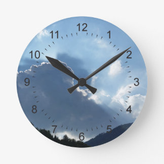 Horloge Ronde rayons et nuages