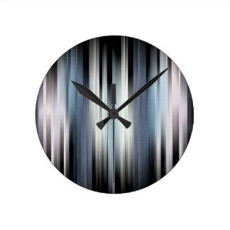 Horloge Ronde Rayures abstraites colorées