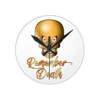 Horloge Ronde Remember Death