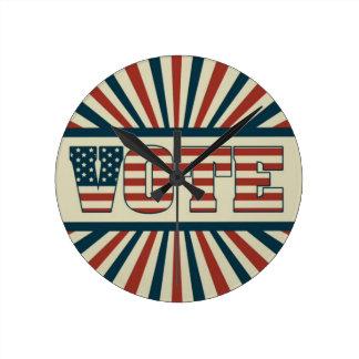 Horloge Ronde Rétro vote, toute la vitesse