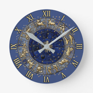 Horloge Ronde Roue de zodiaque