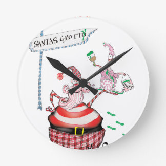 Horloge Ronde Santa dégoûtantes