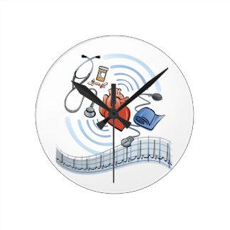 Horloge Ronde Santé de coeur