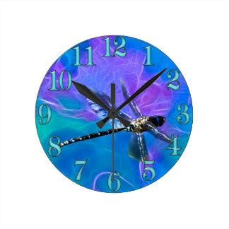 Horloge Ronde Série de cadeau d'Insecte-amants de mouche de demo