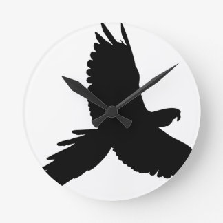 Horloge Ronde Silhouette de perroquet