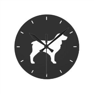 Horloge Ronde Silhouette d'épagneul de Boykin