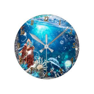 Horloge Ronde Sirène principale rouge sous la coutume
