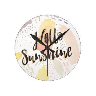 Horloge Ronde Soleil de la brise II   de pré bonjour