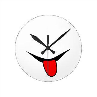 Horloge Ronde Sourire - langue