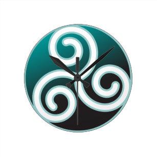 Horloge Ronde Spirale de Celtic de Triskele 5d507850192