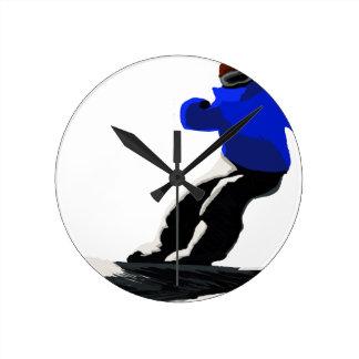 Horloge Ronde Sports d'hiver