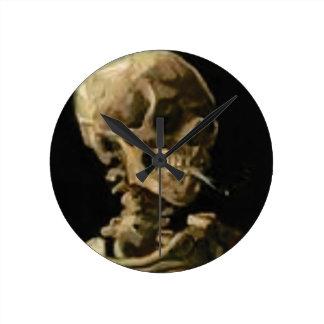 Horloge Ronde squelette de tabagisme