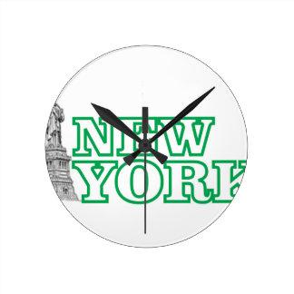 Horloge Ronde statue verte d'art de liberté
