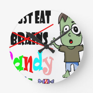 Horloge Ronde sucrerie de zombi