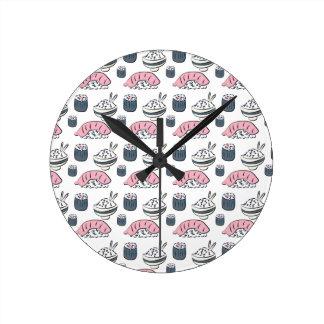 Horloge Ronde Sushi de Nigiri