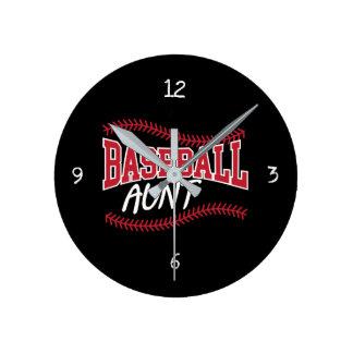 Horloge Ronde Tante de base-ball