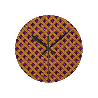 Horloge Ronde Tarte pourpre