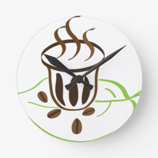 Horloge Ronde Temps de café