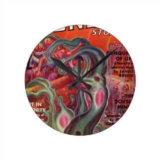 Horloge Ronde Tentacules gluantes
