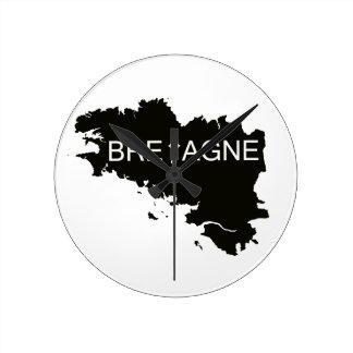 HORLOGE RONDE TERRE DE BRETAGNE