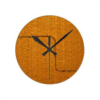 Horloge Ronde Texture criquée de mur