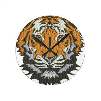 Horloge Ronde tigre
