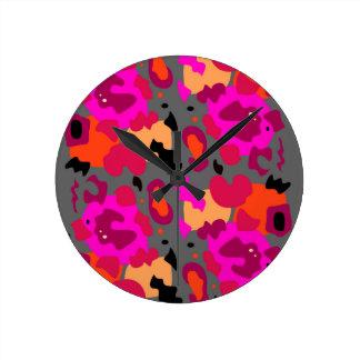 Horloge Ronde Tigre sauvage exotique de conception
