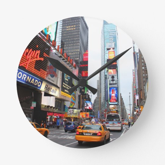 horloge ronde times square new york city etats unis. Black Bedroom Furniture Sets. Home Design Ideas